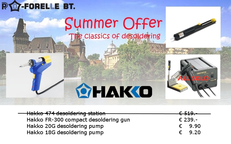Special offer Summer 2015: Classics of desoldering
