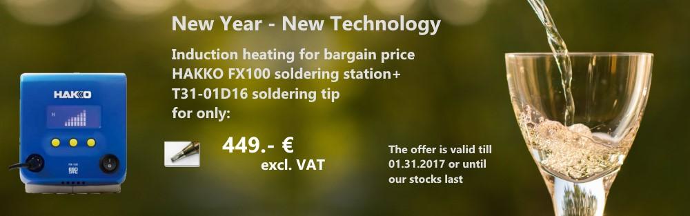 Special offer winter 2016-2017 Hakko FX100