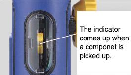 vacuum pickup indicator