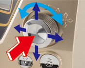 multi-direction control knob